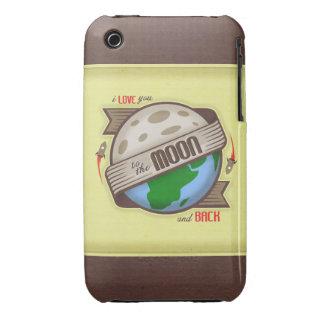 Te amo a la luna y a la parte posterior - caso del iPhone 3 Case-Mate protector