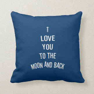 Te amo a la luna y a la parte posterior almohadas