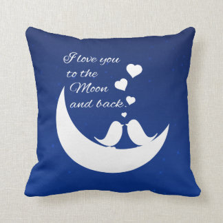 Te amo a la luna y a la parte posterior cojin