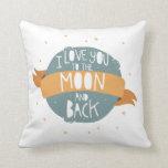 """""""Te amo a la luna y a la parte posterior """" Cojines"""