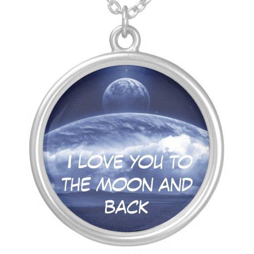 Te amo a la luna y a la parte posterior colgante redondo