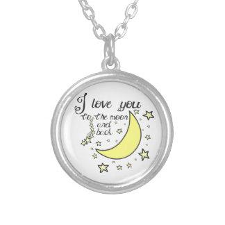Te amo a la luna y a la parte posterior grimpola