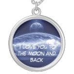 Te amo a la luna y a la parte posterior joyerias personalizadas