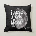 Te amo a la luna y a la parte posterior con su cojín