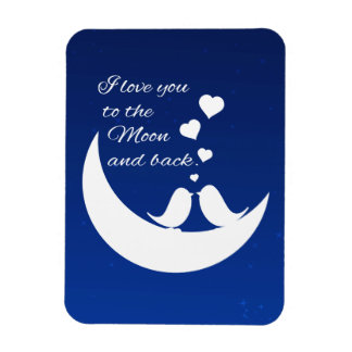 Te amo a la luna y a la parte posterior imanes de vinilo