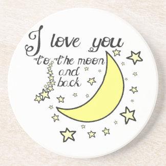 Te amo a la luna y a la parte posterior posavasos manualidades