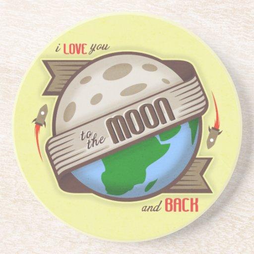 Te amo a la luna y a la parte posterior - práctico posavasos manualidades