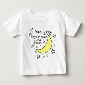 Te amo a la luna y a la parte posterior remera