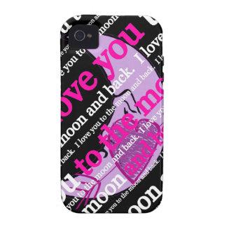 Te amo a la luna y a la tipografía trasera Case-Mate iPhone 4 carcasas