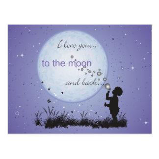 Te amo a la luna y a las postales de las