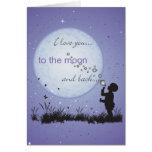 Te amo a la luna y a las postales de las Detrás-Ta Felicitacion