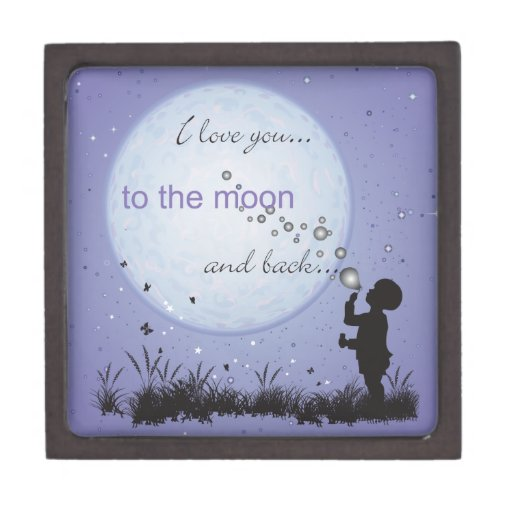 Te amo a la luna y a los regalos Detrás-Únicos Cajas De Joyas De Calidad