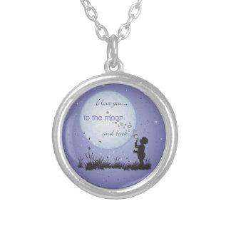 Te amo a la luna y a los regalos Detrás-Únicos Colgantes