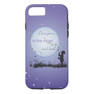 Te amo a la luna y a los regalos Detrás-Únicos Funda iPhone 7