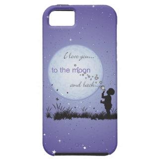 Te amo a la luna y a los regalos Detrás-Únicos Funda Para iPhone 5 Tough
