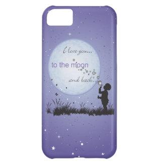 Te amo a la luna y a los regalos Detrás-Únicos Funda Para iPhone 5C