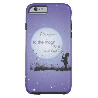 Te amo a la luna y a los regalos Detrás-Únicos Funda Resistente iPhone 6
