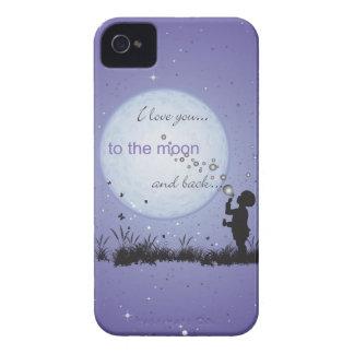 Te amo a la luna y a los regalos Detrás-Únicos iPhone 4 Case-Mate Protector