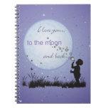 Te amo a la luna y a los regalos Detrás-Únicos Libros De Apuntes