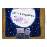 Te amo a la luna y a los robots traseros Notecards Tarjetas