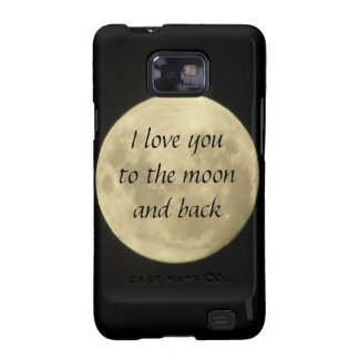 Te amo a la luna y al caso trasero de SamsungGalax Samsung Galaxy S2 Funda