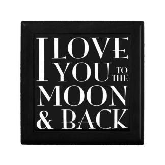 Te amo a la luna y al joyero trasero cajas de joyas