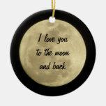 Te amo a la luna y al ornamento trasero adorno