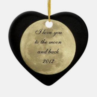 Te amo a la luna y al ornamento trasero ornamentos de reyes magos