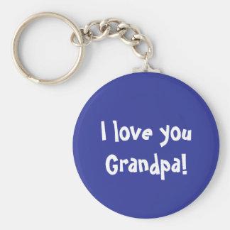 Te amo abuelo llavero redondo tipo pin