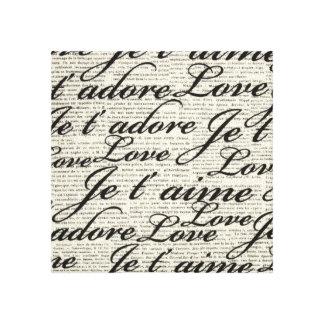 Te amo, aime del t de Je, lona envuelta Impresiones De Lienzo