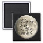Te amo al lunar realista de la luna y de la parte