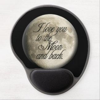 Te amo al lunar realista de la luna y de la parte alfombrillas de raton con gel