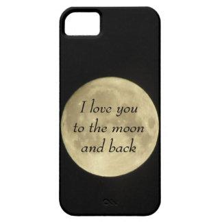 Te amo al moona y al caso trasero del iPhone 5 iPhone 5 Cobertura