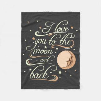 Te amo al negro de la luna y de la parte posterior manta polar