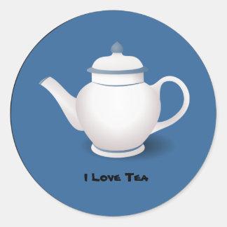 Té: Amo al pegatina del té
