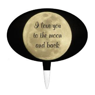 Te amo al primero de la torta de la luna y de la p figura para tarta