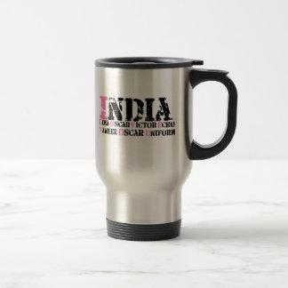 Te amo (alfabeto fonético) tazas de café