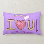 Te amo: Almohada del arco iris del corazón y de la