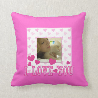 Te amo: Almohada rosada del corazón