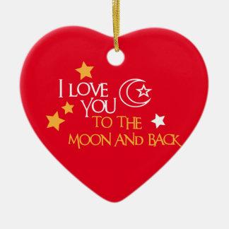 Te amo amigo único del regalo de la LUNA Y de la Adorno De Cerámica En Forma De Corazón