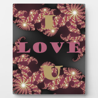 Te amo amor placa para mostrar