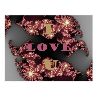 Te amo amor postal