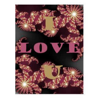 Te amo amor postales