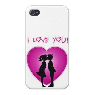 Te amo arte lindo iPhone 4/4S carcasas