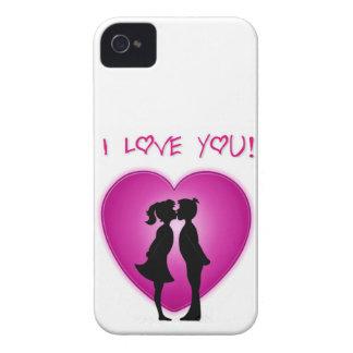 Te amo arte lindo iPhone 4 Case-Mate protectores