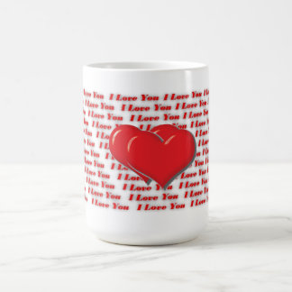 Te amo asalta rojo taza