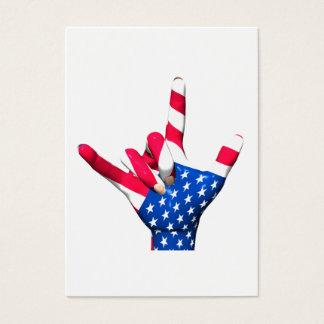 Te amo bandera de los E.E.U.U. Tarjeta De Negocios