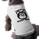 Te amo Beary mucho Camisetas Mascota