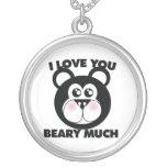 Te amo Beary mucho Collares Personalizados