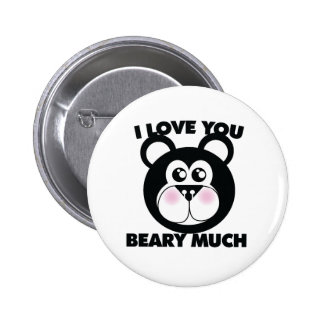 Te amo Beary mucho Pin Redondo De 2 Pulgadas